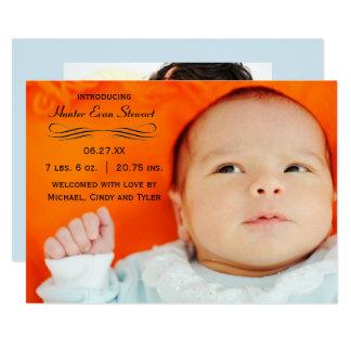 Large Photo Flourish - Birth Announcement