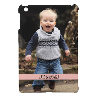 Large photo personalize your own pink band iPad mini covers
