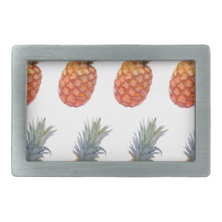 Large Pineapple Print Rectangular Belt Buckle