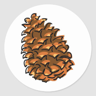 Large Pinecone Classic Round Sticker