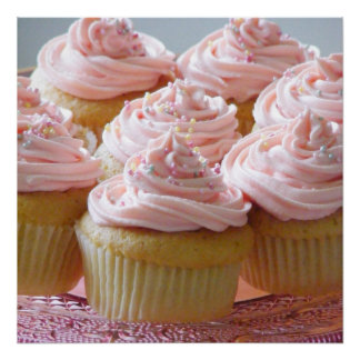 Large pink cupcakes poster