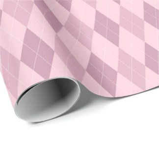 Large Pink Tones Argyle Wrapping Paper