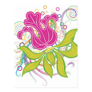 Large Pink Water Lilly Postcard
