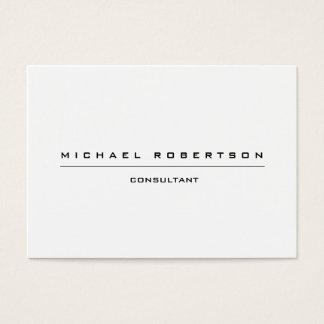 Large Plain Unique Special Black White Business Card