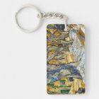 Large Plane Trees by Vincent Van Gogh Keychain