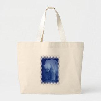 Large Polar Bear Canvas Bag