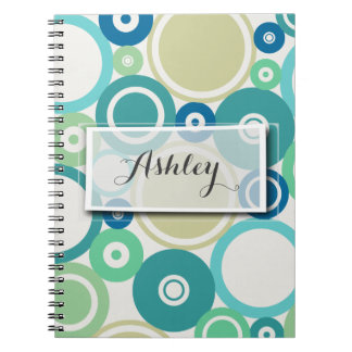 Large Polka Dots Beach theme Notebook