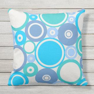 Large Polka Dots Beach theme Outdoor Pillow