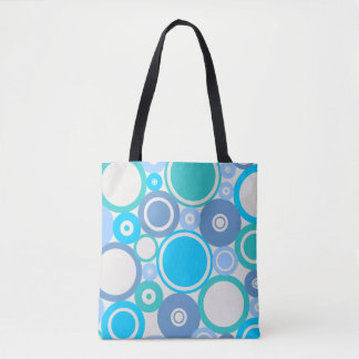Large Polka Dots Beach theme Tote Bag