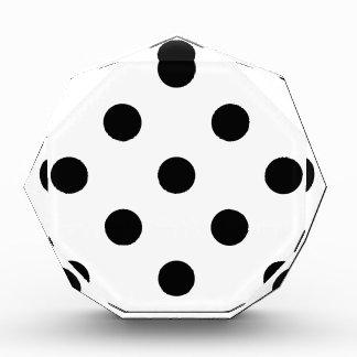 Large Polka Dots - Black on White