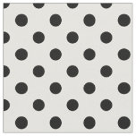 Large Polka Dots - Black on White Fabric