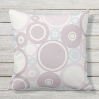 Large Polka Dots Dusty Pink theme Outdoor Pillow