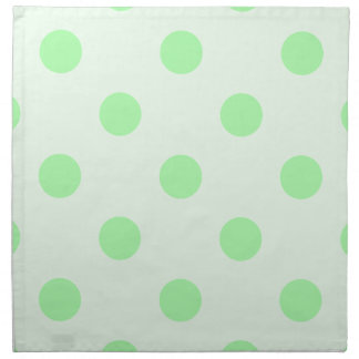 Large Polka Dots - Green on Light Green Printed Napkin