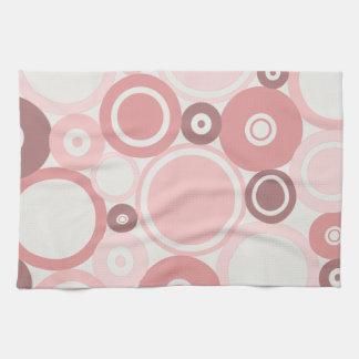 Large Polka Dots Peach theme Kitchen Towel