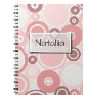 Large Polka Dots Peach Theme Notebook