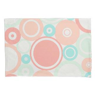 Large Polka Dots Peach theme Pillow Case