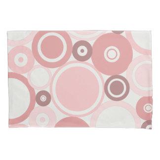 Large Polka Dots Peach theme Pillow Case Pillowcase