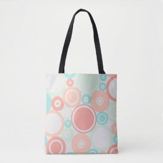 Large Polka Dots Peach theme Tote Bag