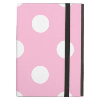 Large Polka Dots - White on Cotton Candy iPad Air Case