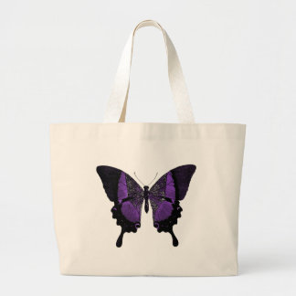 Large Purple Butterfly Tote