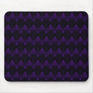 Large Purple Neon Alien Skull Mouse Pad