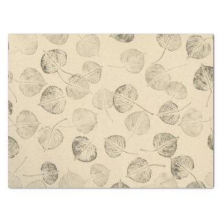 Large Quaking Aspen Leaf Prints Tissue Paper