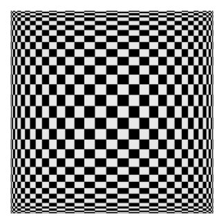 Large Quark Op Art Poster