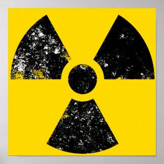 large radiation icon poster