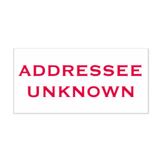 Large Red Addressee Unknown Self-inking Stamp