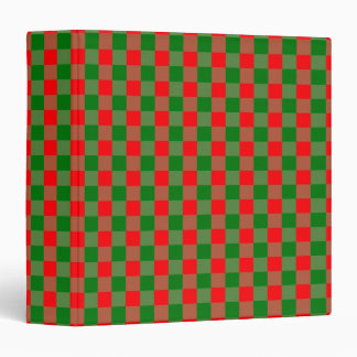 Large Red and Green Christmas Gingham Check Tartan Binder