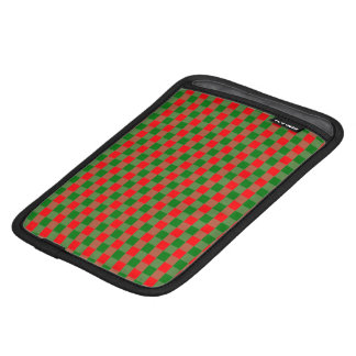 Large Red and Green Christmas Gingham Check Tartan iPad Mini Sleeve