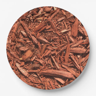 Large Red Cedar Mulch for Landcape Designer Paper Plate