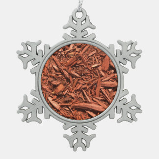Large Red Cedar Mulch for Landcape Designer Pewter Snowflake Ornament