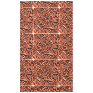 Large Red Cedar Mulch for Landcape Designer Tablecloth