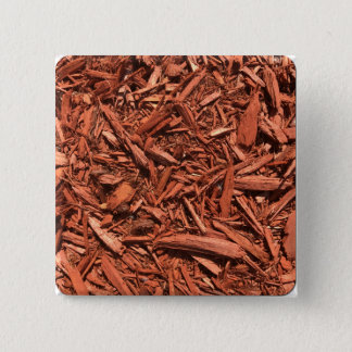 Large red cedar mulch pattern landscape contractor 2 inch square button