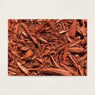 Large red cedar mulch pattern landscape contractor business card