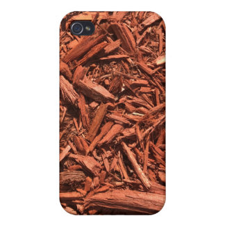 Large red cedar mulch pattern landscape contractor iPhone 4/4S cases
