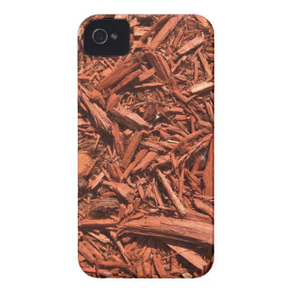 Large red cedar mulch pattern landscape contractor iPhone 4 Case-Mate case