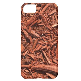Large red cedar mulch pattern landscape contractor iPhone 5C case