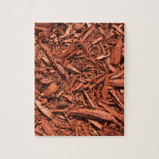 Large red cedar mulch pattern landscape contractor jigsaw puzzle