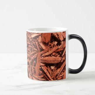 Large red cedar mulch pattern landscape contractor magic mug