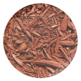 Large red cedar mulch pattern landscape contractor plate