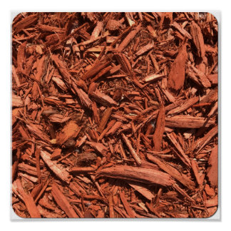 Large red cedar mulch pattern landscape contractor poster