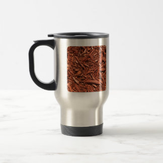 Large red cedar mulch pattern landscape contractor travel mug