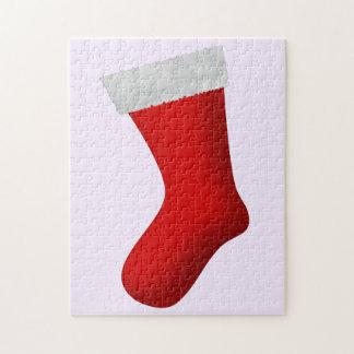 Large Red Christmas Stocking Jigsaw Puzzle
