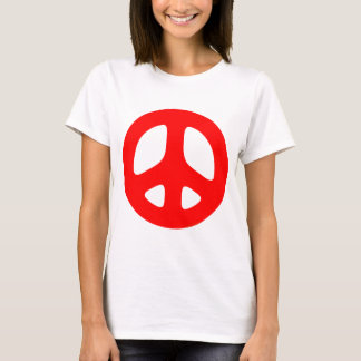 Large Red Peace Sign Top