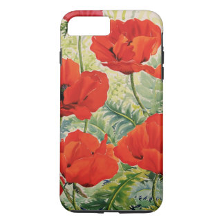 Large Red Poppies iPhone 7 Plus Case