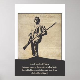 Large Revolutionary Minuteman Poster
