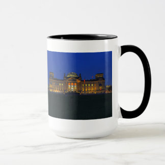 Large Ringer cup black Berlin Reichstag evening