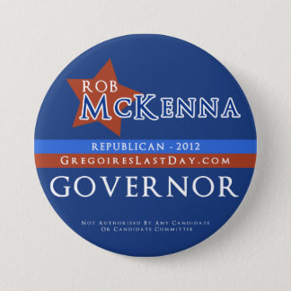 Large Rob McKenna for Governor Button